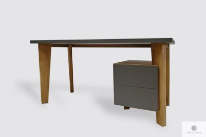 Design desk with wooden legs and cabinet to office GRAND Furniture Manufacturer RaWood Premium Furniture