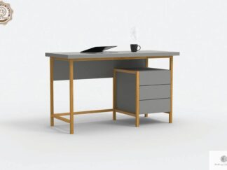 Modern desk with wooden legs to office room BOSTON find us on https://www.facebook.com/RaWoodpl/