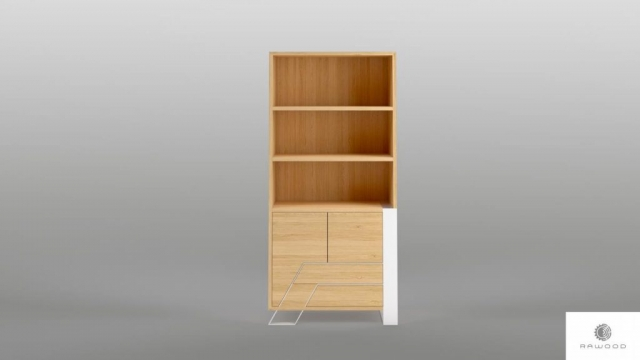 Wooden bookcase with drawers to living room bedroom BORA find us on https://www.facebook.com/RaWoodpl/