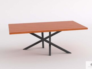 Table with oak tabletop on metal base to dining room ARGON