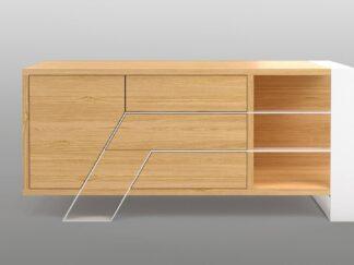 Modern oak TV cabinet on metal legs to living room BORA  find us on https://www.facebook.com/RaWoodpl/