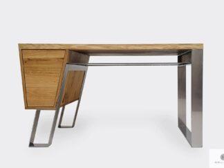 Desk of oak wood on metall legs to office BORA