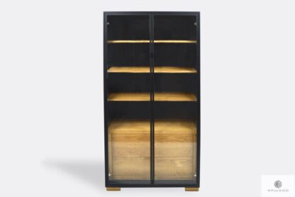 Design display cabinet of solid wood to living room CARLA