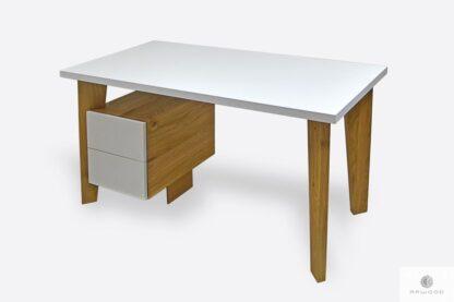 Design white oak desk with drawers GRAND