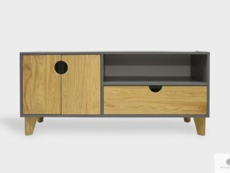 Elegant TV cabinet of wood and laminated board to living room GRAND