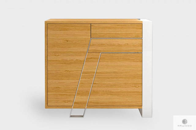 Modern oak chest of drawers of solid wood to living room BORA
