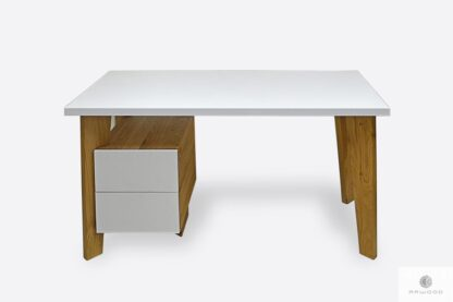 Modern wooden desk with container for office GRAND