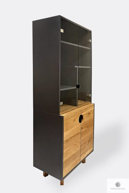 Wooden display cabinet with shelves for size to living room GRAND