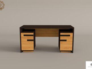 Oak modern desk of solid wood to office LAGOS find us on https://www.facebook.com/RaWoodpl/