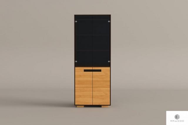 Large modern oak display cabinet to living room LAGOS find us on https://www.facebook.com/RaWoodpl/