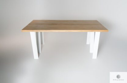 Scandinavian oak table of solid wood to dining room ELEGANT find us on https://www.facebook.com/RaWoodpl/