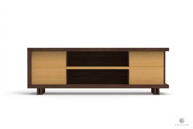 TV console of wood and laminated board to living room NESTON Furniture Manufacturer RaWood Premium Furniture
