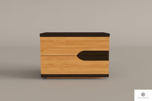 Night cabinet with drawers of solid wood to bedroom LAGOS find us on https://www.facebook.com/RaWoodpl/