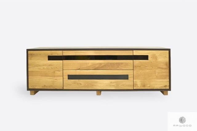 Oak TV cabinet of solid wood to living room LAGOS