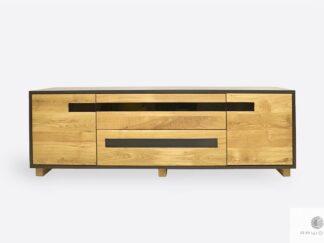 Dębowa szafka RTV z drewna litego do salonu LAGOS