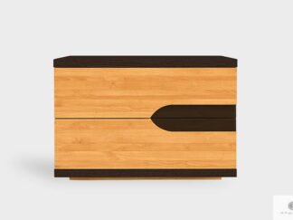 Nightstand with drawers of solid wood to bedroom LAGOS
