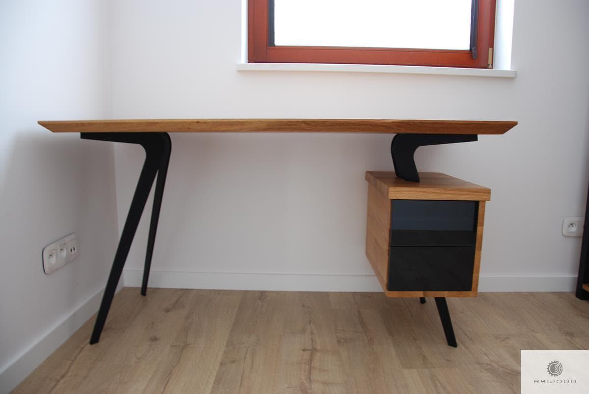 Designer oak desk on steel legs to office VITA