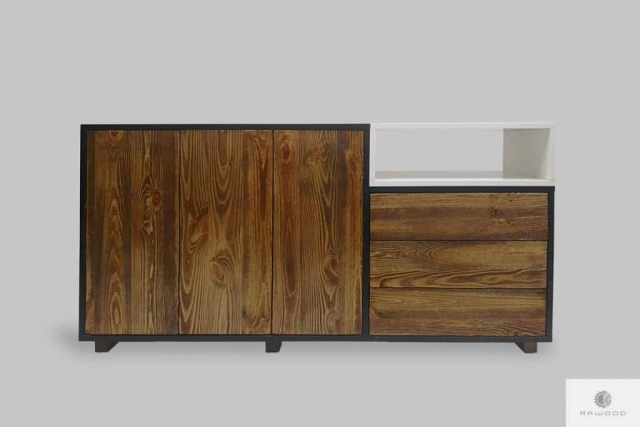 Designer chest of drawers in scandinavian style to living room office BERGEN I Furniture Manufacturer RaWood Premium Furniture