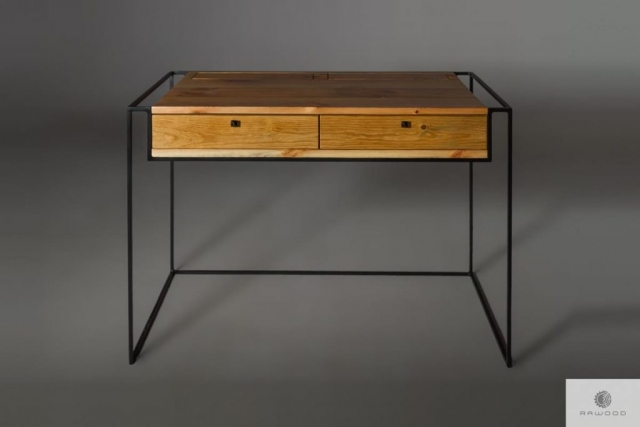 Industrial desk of old solid wood to office find us on https://www.facebook.com/RaWoodpl/
