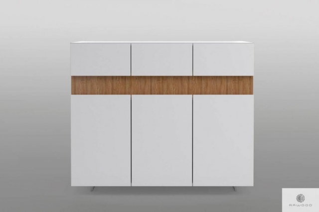 White chest of drawers with solid wood to living room DORIS Furniture Manufacturer RaWood Premium Furniture
