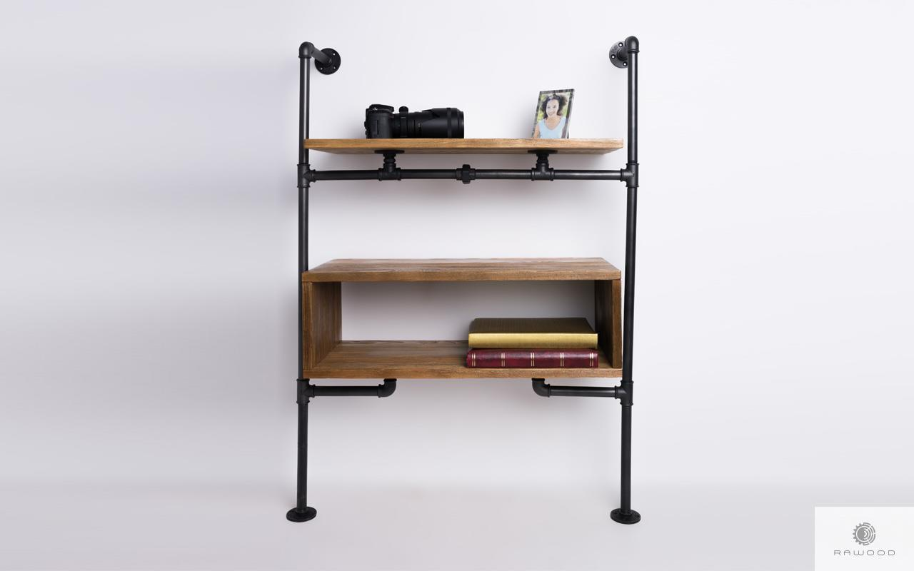Modular bookshelf of solid wood to living room DENAR find us on https://www.facebook.com/RaWoodpl/