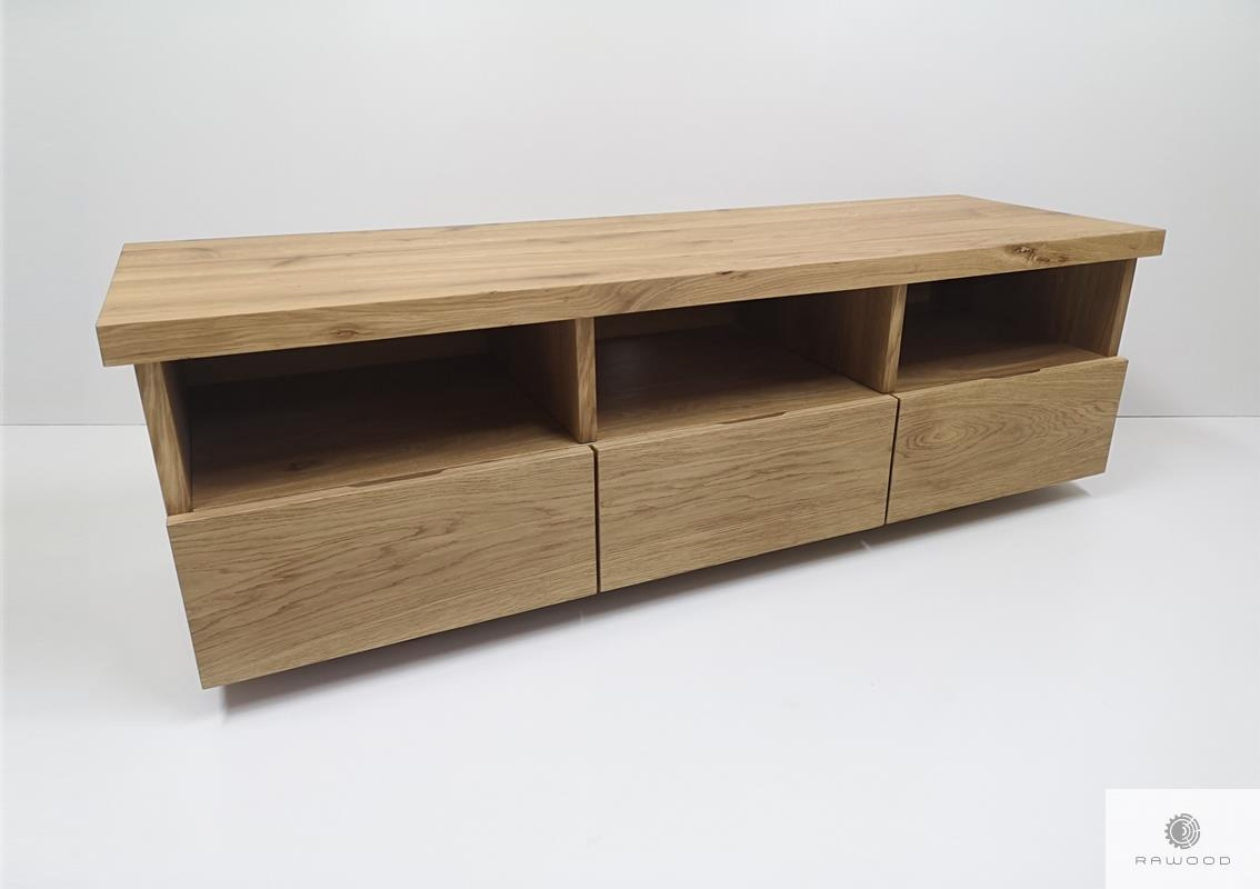 Rustical TV cabinet of solid wood to living room DENAR find us on https://www.facebook.com/RaWoodpl/
