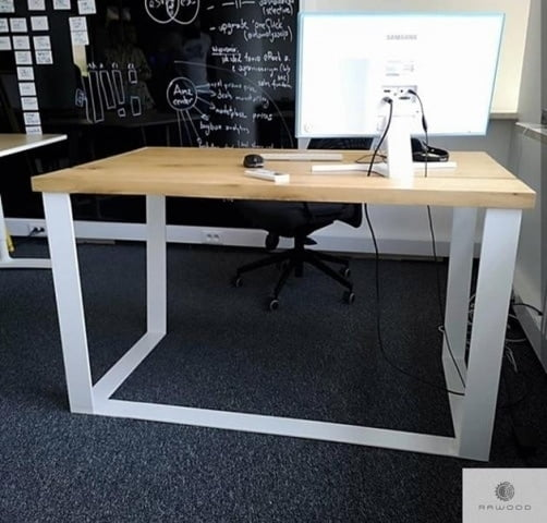 Desk with drawers of solid oak wood to office MERGE