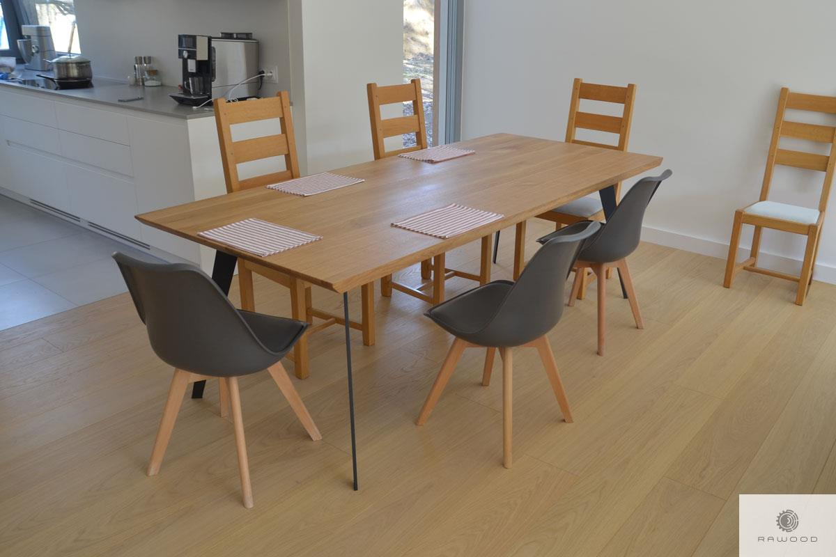 Industrial oak table for size to living room VITA