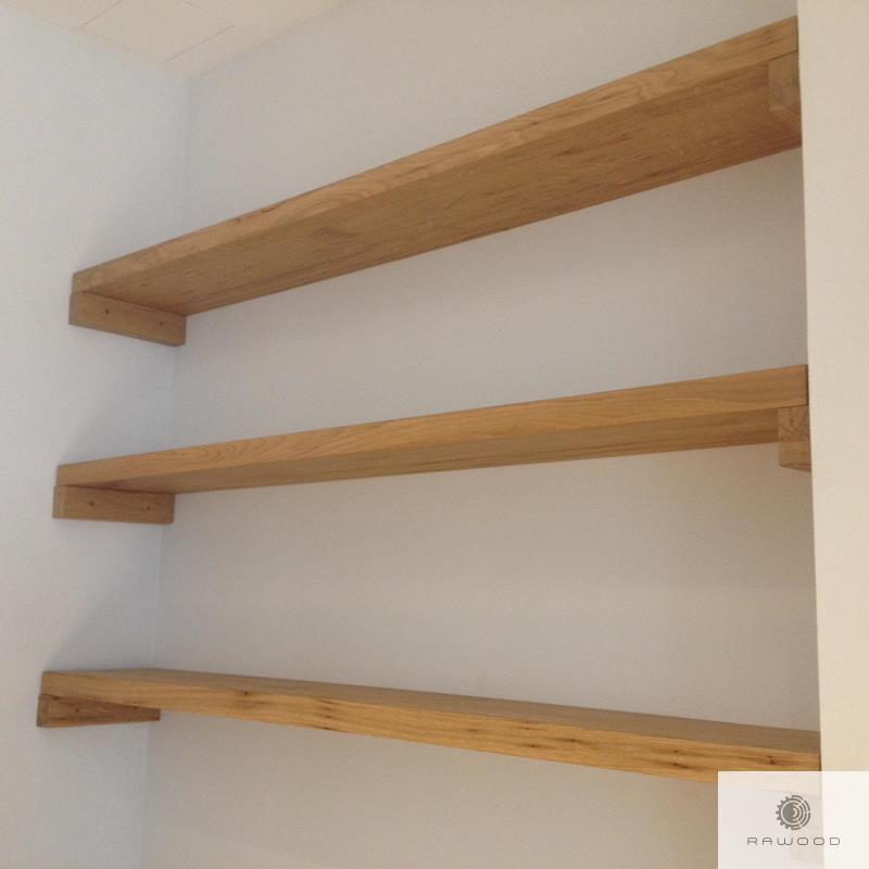 Wall shelves of solid wood to living room