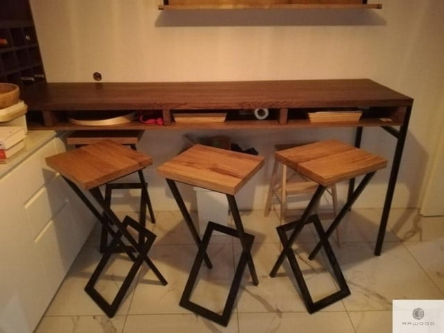 Wooden barstools to kitchen dining room HUGON