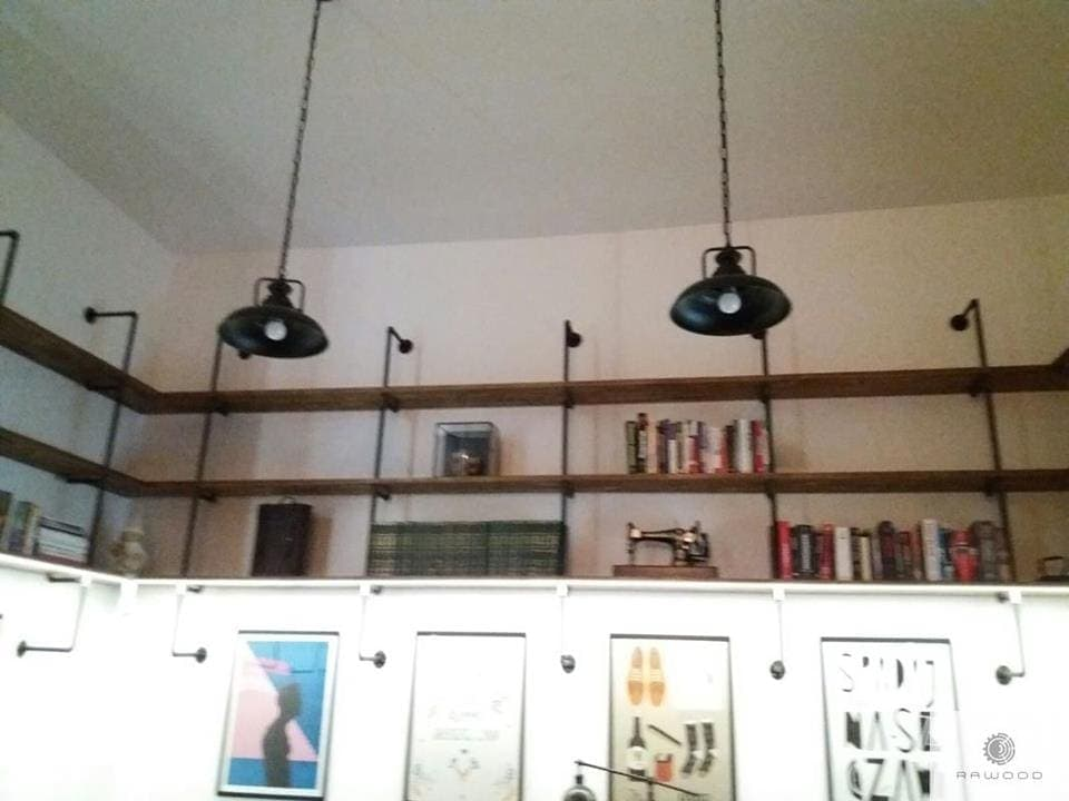 Shelves of solid wood and steel in industrial style DENAR