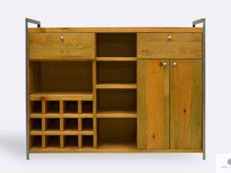 Industrial bar cabinet of wood to dining room kitchen
