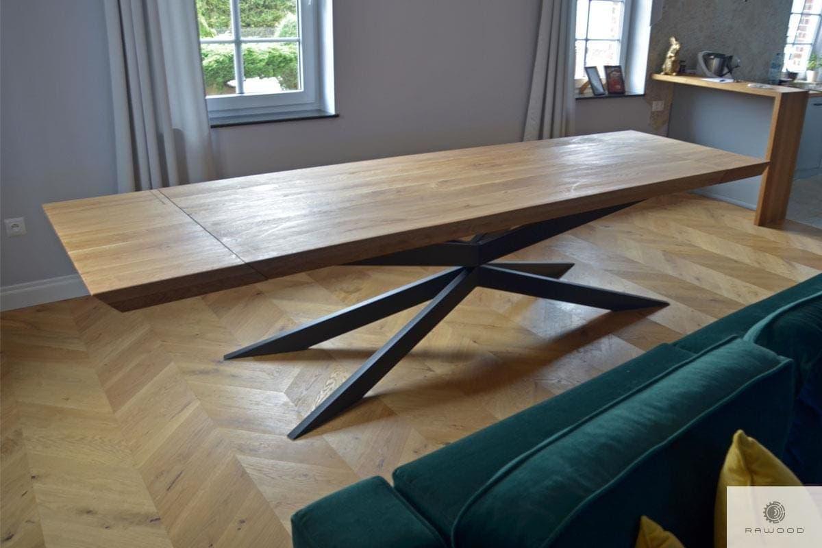 Industrial oak table for size DEVON
