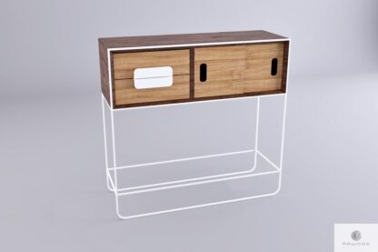 Wooden side table console table of solid wood to living room hallway DENIS finden Sie uns auf https://www.facebook.com/RaWoodpl/