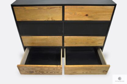 Wooden spacious chest of drawers with drawers to living room NESCA II