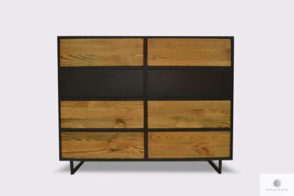 Modern elegant chest of drawers of solid wood to living room NESCA II