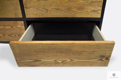 Elegant modern chest of drawers of wood with drawers NESCA II