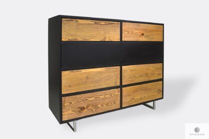 Industrial wooden chest of drawers with drawers to bedroom NESCA II