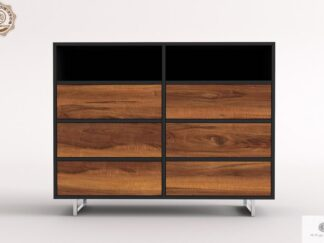 Modern dresser of solid wood with drawers to living room NESCA II