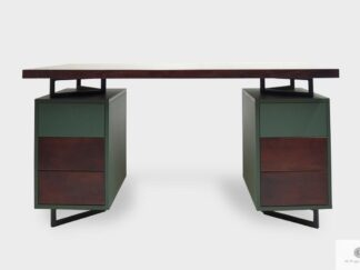 Oak desk with containers with drawers to office NORD