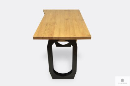 Desk of solid wood and black steel to office WALT