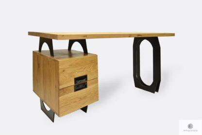 Wooden industrial desk with drawers to office WALT