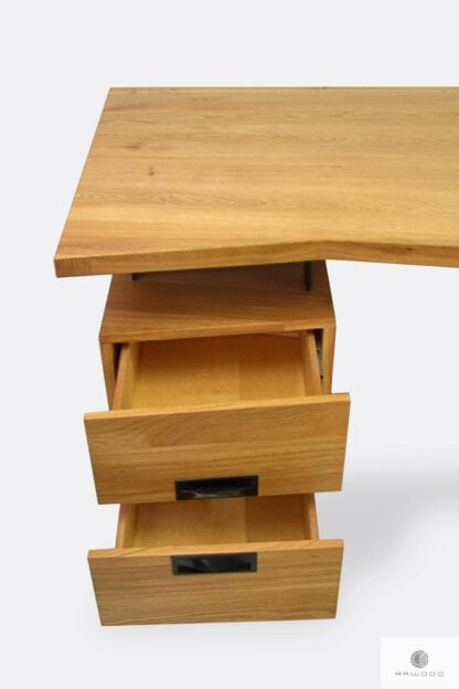 Industrial wooden desk with drawers to office WALT
