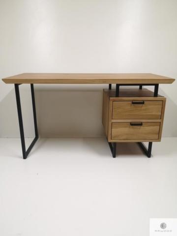 Oak wood desk to office law firm HUGON find us on https://www.facebook.com/RaWoodpl/