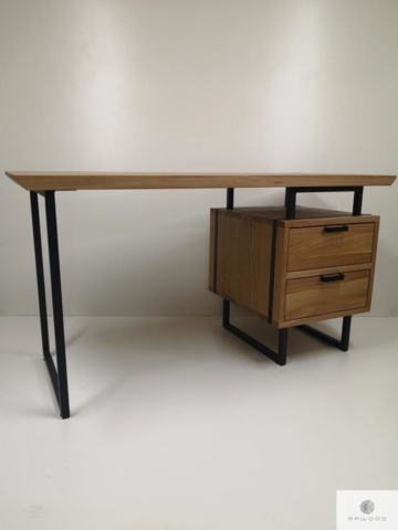Oak wood desk to office law firm HUGON find us on https://www.facebook.com/RaWoodpl/