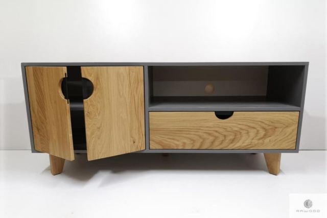 Elegant TV cabinet of wood and laminated board to living room GRAND find us on https://www.facebook.com/RaWoodpl/