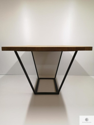 Oak table on metal base to dining room LIBRO find us on https://www.facebook.com/RaWoodpl/