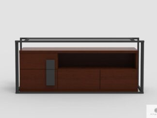 Industrial TV cabinet of oak wood to living room DALLAS