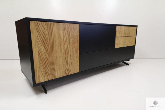 Modern wooden TV cabinet for living room CARLA find us on https://www.facebook.com/RaWoodpl/