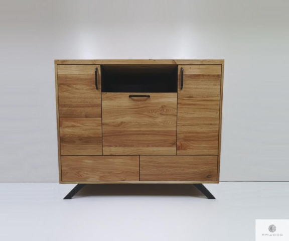 Modern chest of drawers of solid oak wood to living room find us on https://www.facebook.com/RaWoodpl/